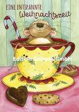 GOLLONG Eine entspannte Weihnachtszeit / Maus - Alexa Riemann Postkarte