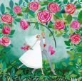 GOLLONG Brautpaar unter Rosen - Mila Marquis Postkarte