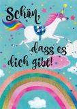 GOLLONG Schön, dass es Dich gibt / Einhorn - Mila Marquis Postkarte