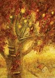 LOVELYCARDS Baumhaus im Herbst - Galina Egorenkova Postkarte