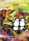 sheepworld Zusammen sind wir wie Pech und Schwefel! Postkarte