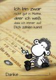 sheepworld Nicht gut in Mathe, aber ich weiß, ich kann auf Dich zählen! Postkarte