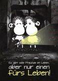 sheepworld Viele Freunde im Leben, aber nur einen fürs Leben! Postkarte