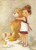 ACARDS Mädchen mit Teddy - Ekaterina Babok Postkarte