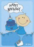 MILA Happy Birthday - Mr. Smile Postkarte