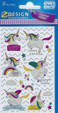 Z-Design Einhörner mit Regenbogen / Sprüche Sticker