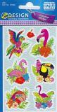 Z-Design Tropische Vögel Sticker
