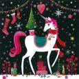GOLLONG Weihnachtliches Einhorn mit Tannenbaum - Mila Marquis Postkarte