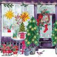 GOLLONG Weihnachtliches Geschäft - Cartita Design Postkarte