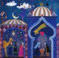 GOLLONG Heilige drei Könige + Krippe + Engel - Mila Marquis Postkarte