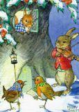 TAURUS-KUNSTKARTEN Tiere singen Weihnachtslieder - Molly Brett Postkarte