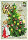 TAUSENDSCHÖN Engel mit geschmücktem Weihnachtsbaum Postkarte