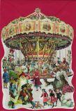 TAUSENDSCHÖN Weihnachtliches Karussell - gestanzte Postkarte mit Kuvert