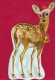 TAUSENDSCHÖN Weihnachtliches Reh - gestanzte Postkarte mit Kuvert