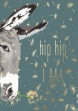 CITYPRODUCTS Hip Hip IAAA / Esel Flowerpower Postkarte