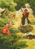 TAURUS-KUNSTKARTEN Frauen mit Vogelscheuche - Inge Löök Postkarte