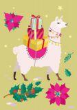 NOBIS DESIGN Christmas Lama Postkarte