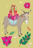 NOBIS DESIGN Christmas Esel Postkarte