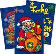 LUTZ MAUDER Weihnachtsmann mit Geschenken Wackelbild Postkarte