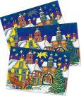 LUTZ MAUDER Weihnachtsmann in Winterstadt Wackelbild Postkarte