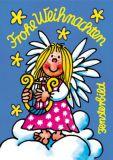 LUTZ MAUDER Frohe Weihnachten / Engel Fensterbild Postkarte