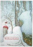 LENNART HELJE Ein frohes und friedvolles Weihnachtsfest / Zwerg + Rotkehlchen Postkarte