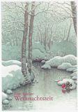 LENNART HELJE Eine schöne Weihnachtszeit / Zwerg trinkt aus Fluss Postkarte