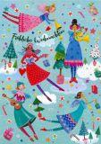 GOLLONG Fröhliche Weihnachten / Musizierende Engel - Mila Marquis Postkarte
