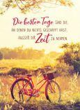 GOLDBEK Die besten Tage... / rotes Fahrrad Lichtblicke Postkarte