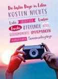 GOLDBEK Die besten Dinge im Leben kosten nichts / Fotoapparat Lichtblicke Postkarte