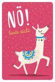 GOLDBEK Nö! heute nicht / Lama Hello Friends Postkarte