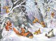 ACARDS Winter Jolly Fun / Wald mit Tieren - Zorina Baldescu Postkarte