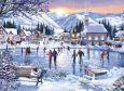 ACARDS Weihnachtliches Schlittschuhlaufen - Dennis Lewan Postkarte