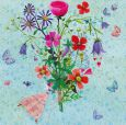 GOLLONG Elfe mit Blumenstrauß - Mila Marquis Postkarte