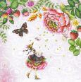 GOLLONG Frau unter Blüten mit Schmetterling - Nina Chen Postkarte