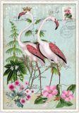 TAUSENDSCHÖN Zwei Flamingos Postcard Postkarte