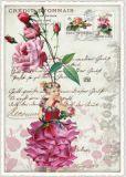 TAUSENDSCHÖN Blumenfee mit Pfingstrose Postcard Postkarte