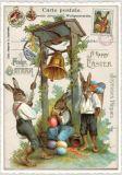TAUSENDSCHÖN Frohe Ostern - Hase mit Glocke Postkarte