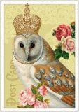 TAUSENDSCHÖN Eule mit Krone Postkarte