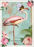 TAUSENDSCHÖN Flamingo mit Krone Postkarte