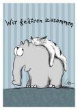 MT Wir gehören zusammen - Otto Waalkes / Ottifanten Postkarte