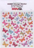 HobbyFun Bunte Schmetterlinge Hobby-Design Sticker