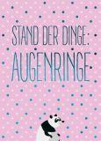 CITYPRODUCTS Stand der Dinge Augenringe / Panda Happy People Postkarte