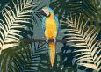 CITYPRODUCTS Papagei zwischen Palmenblättern Flowerpower Postkarte