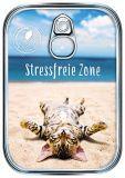 HARTUNG EDITION Stressfreie Zone / Katze Metalliceffekt Postkarte