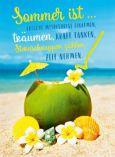 GOLDBEK Sommer ist... / Kokosnuss am Strand Lichtblicke Postkarte