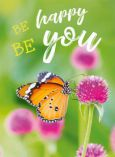 GOLDBEK Be happy be you / Schmetterling auf Blume Lichtblicke Postkarte