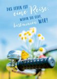 GOLDBEK Leben ist eine Reise / Fahrrad Lichtblicke Postkarte