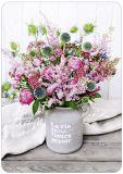 HARTUNG EDITION Blumen in grauem Tontopf MEDLEY Postkarte