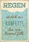 HARTUNG EDITION Regen ist Konfetti, das vom Himmel fällt WORDS UP Postkarte